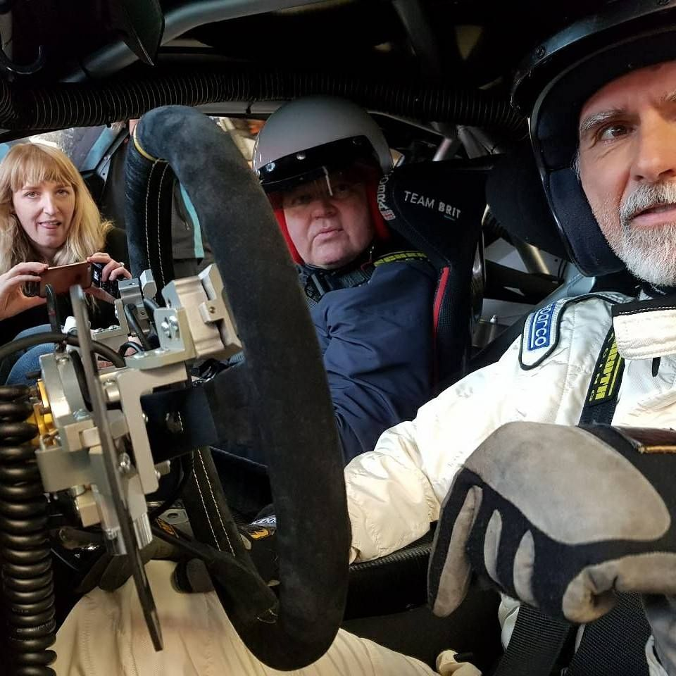 Damon Hill testing MME Motorsport Hand Controls